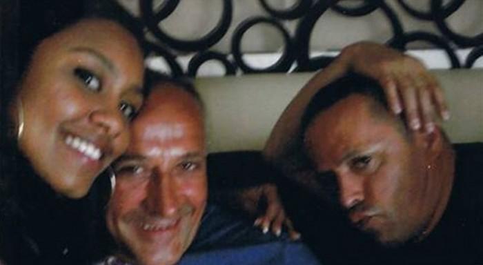 Giuseppe Polverino (c) junto a su amante y un guardaespaldas. / EP