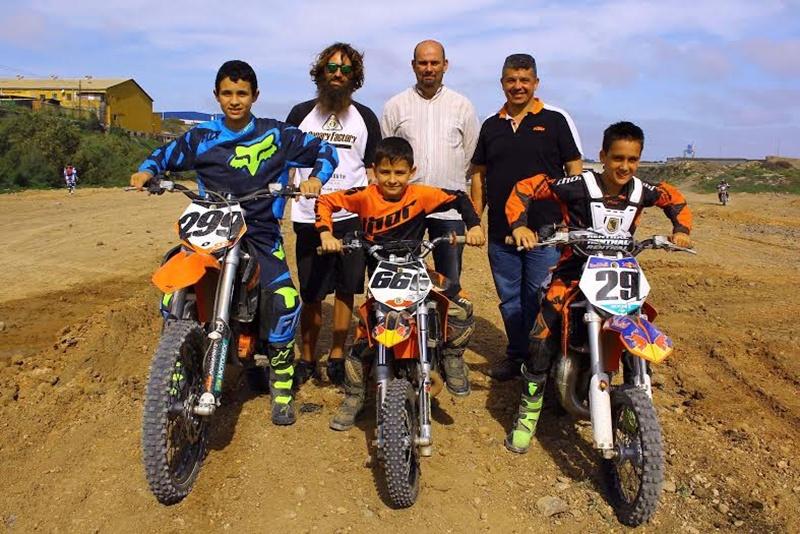 Canary Factory con Pedro Peñate, gerente de Valsebike Motos y Eduardo Déniz, concejal de Valsequillo