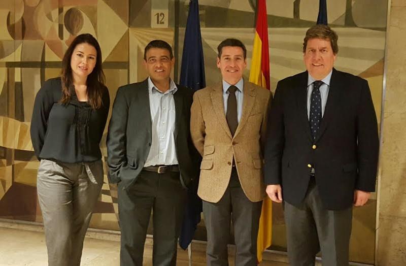 El director general de Alta Competición del Consejo Superior de Deportes (CSD), Carlos Gascón, junto al eurodiputado  Gabriel Mato, Germán Rodríguez y Mila Pacheco. | DA