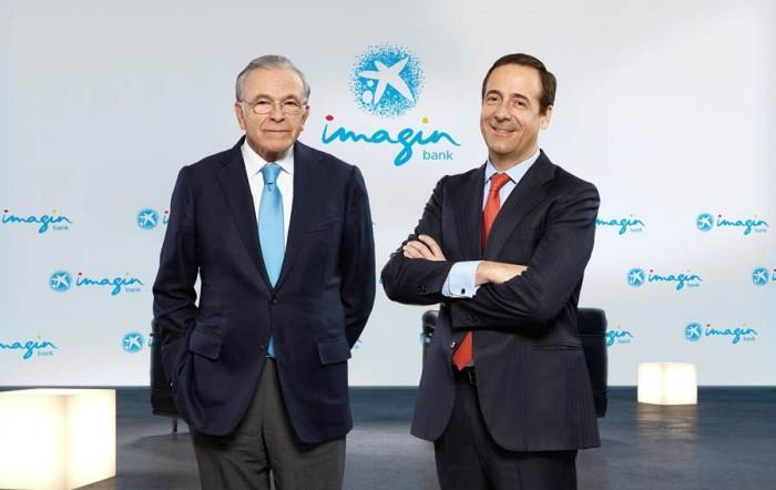 En la imagen Isidro Fainé (izq.) y Gonzalo Gortázar, presidente y consejero delegado de la entidad. | DA