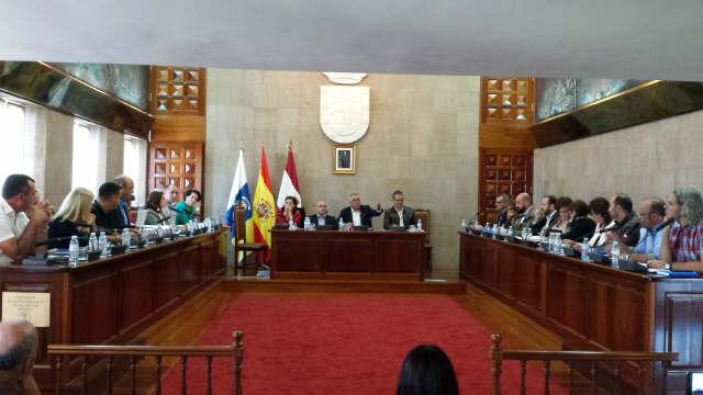 Imagen del pleno del Ayuntamiento de Granadilla celebrado el pasado lunes.