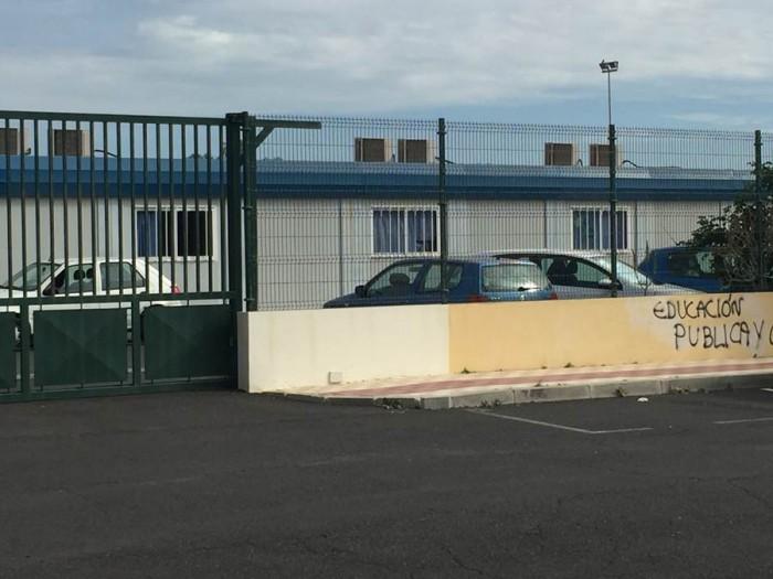 Aspecto exterior de las instalaciones del Instituto de Guaza, en Arona. | DA