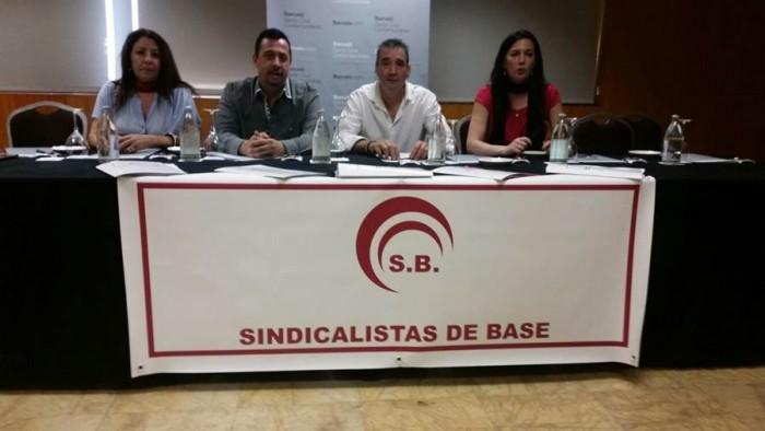 La dirección de Sindicalistas de Base, el día de su presentación como nueva organización escindida de Comisiones Obreras (CC.OO). | DA