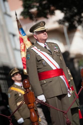 El teniente general Pedro Galán, ayer en la capital tinerfeña. / F. P.