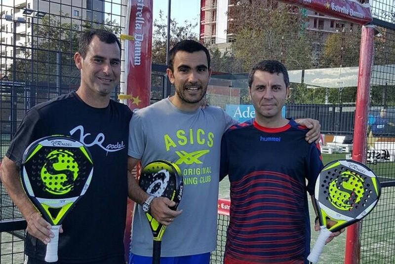 Fredy Domínguez, Pablo Lima y Raúl Pérez, en Barcelona. / DA