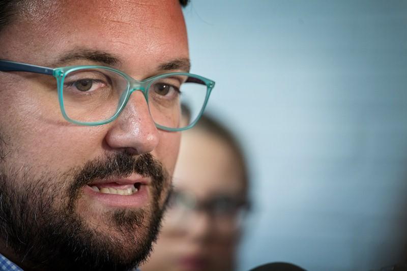 Asier Antona, secretario general del PP en Canarias  y presidente del grupo Popular en el Parlamento Regional. / ANDRÉS GUTIÉRREZ