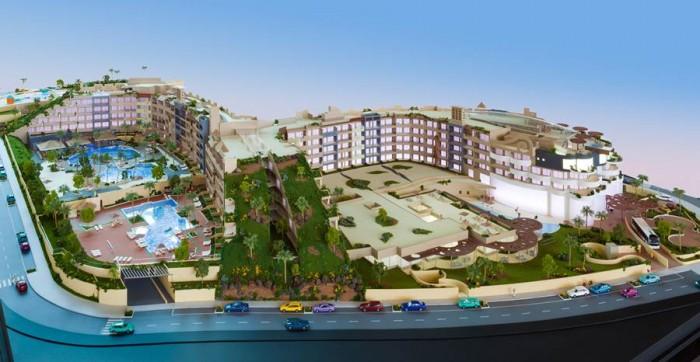Maqueta del complejo hotelero, que comenzará a recibir los primeros clientes en el mes de diciembre. | DA