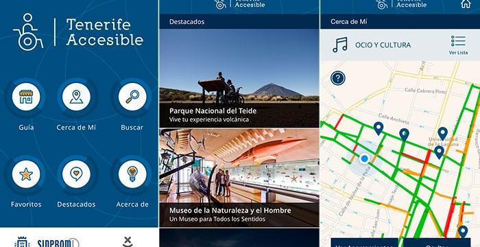 La app Tenerife Accesible, finalista en un certamen nacional sobre turismo