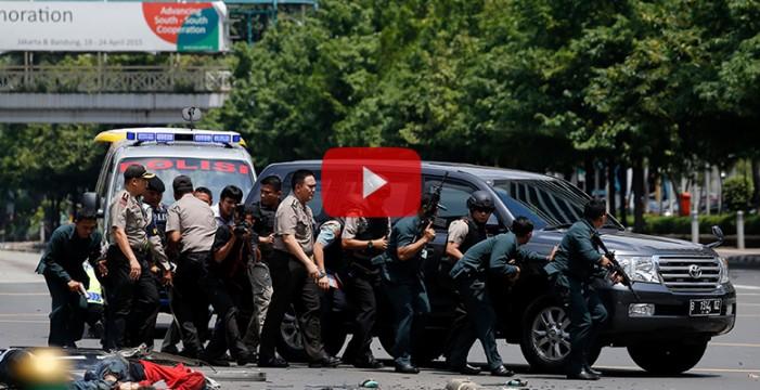 Dos civiles y cuatro asaltantes muertos, balance de los ataques en Yakarta