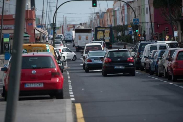 Las vías sobre las que se actuó son la avenida de Taco, la carretera de El Rosario y San José Obrero. | F. PALLERO