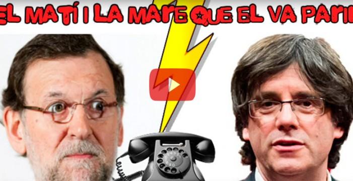 Un imitador de Puigdemont logra hablar con Rajoy, que se compromete a llamarle el lunes para reunirse
