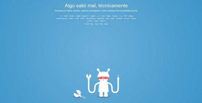 Twitter sufre una caída que deja sin servicio a sus usuarios
