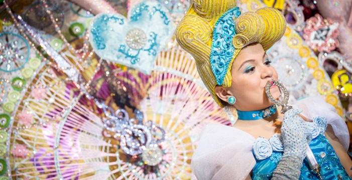 Tania Martín, reinita del  Carnaval de los 80