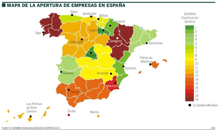 mapa apertura empresas España