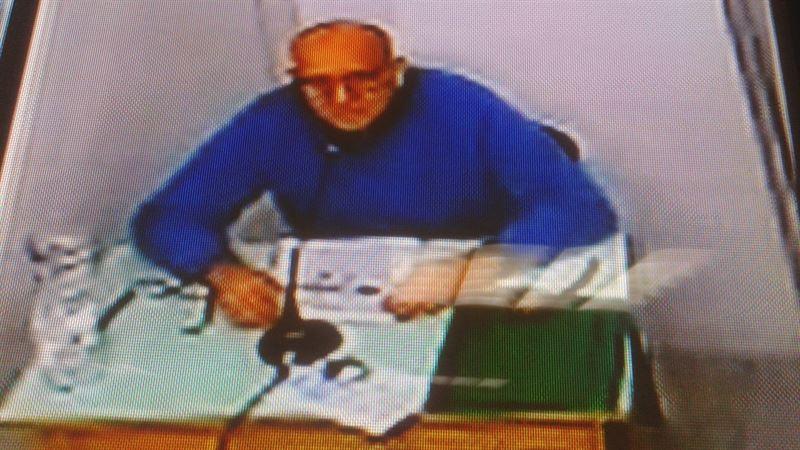 Giuseppe Polverino, ayer en videoconferencia. / EP