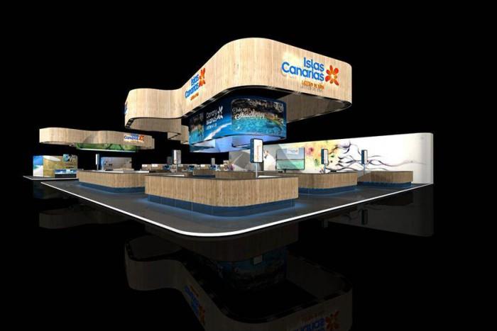 Imagen del Pabellón de Canarias, que será el mismo utilizado por el Gobierno en Fitur, en la pasada World Travel Market de Londres. | DA