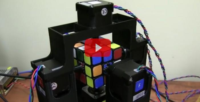 Este robot puede resolver un cubo de Rubik en menos de dos segundos