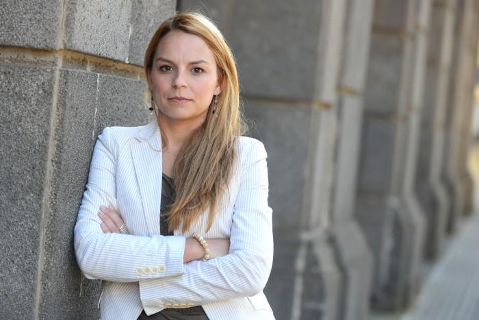 22-04-2015 la laguna noemi santana candidata de podemos a las elecciones municipales de 2015 al parlamento