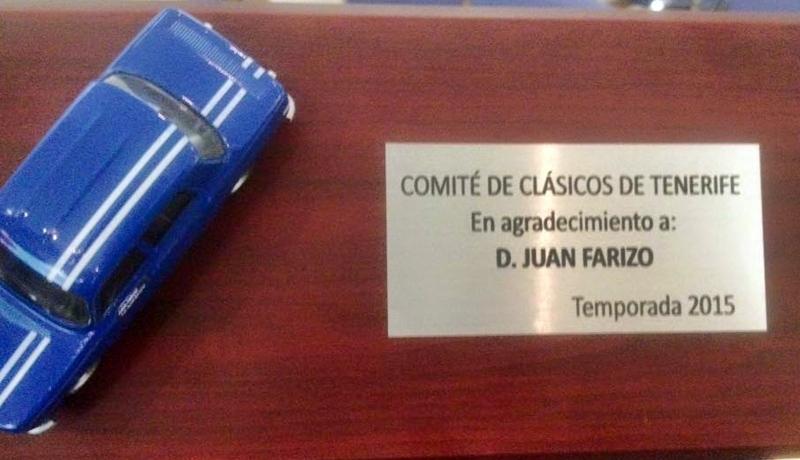 trofeo Clasicos a Juan Farizo