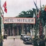 El antiguo hotel Martiánez, en Puerto de la Cruz, engalanado para los turistas nazis (1939). | DA