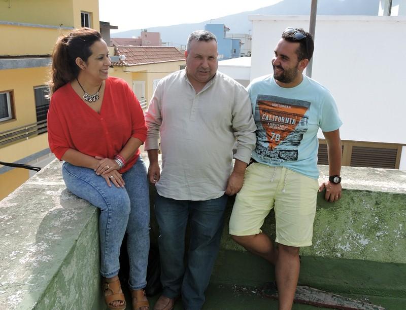 Tres dirigentes del colectivo Mi Barrio El Carmen Se Mueve. / NORCHI
