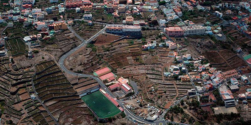 Vista aérea del municipio de La Victoria