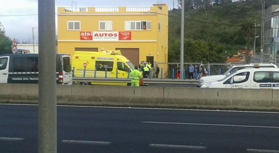 Fallece un motorista en un accidente en la autopista TF-5