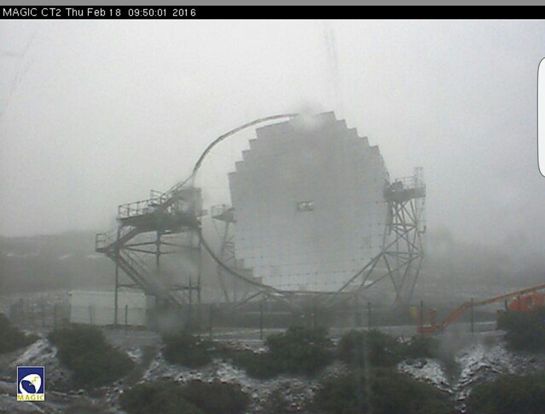 Imágenes desde el Observatorio del Roque, La Palma. / DA