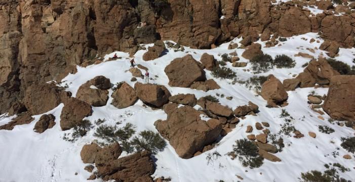 Rescatan a un senderista herido en el Teide