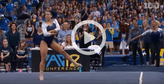La gimnasta que se convirtió en viral por una rutina a ritmo de hip-hop
