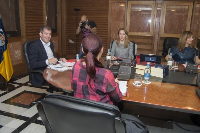 Reunión del Consejo de Gobierno de Canarias, que ha aprobado el anteproyecto de Ley del Suelo. / DA