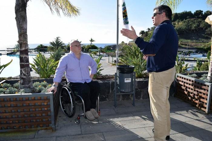 El concejal de Accesibilidad, Carlos Correa, visitó las instalaciones del Parque Marítimo Municipal. | DA