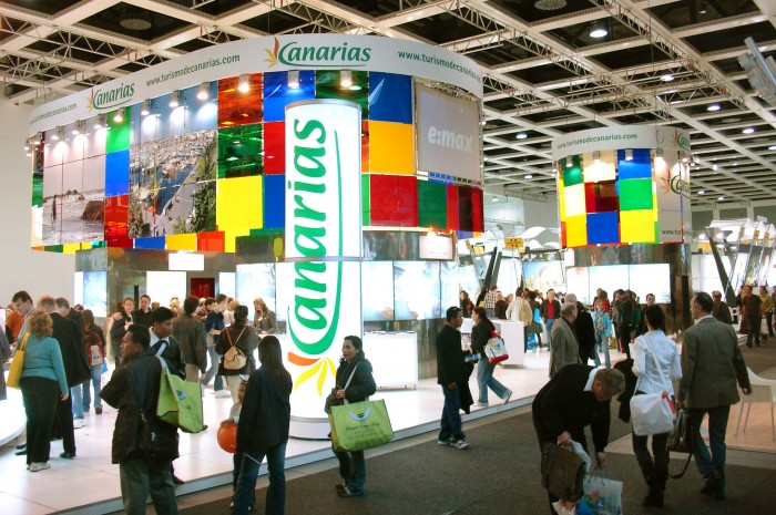Promotur se encarga de la promoción de Canarias (en la imagen, un estand en una feria de turismo). / DA
