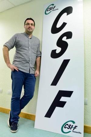 José García Gotera, en la sede del CSI-F en Santa Cruz. | SERGIO MÉNDEZ