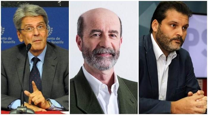 Julio Pérez, Santiago Pérez y José Ángel Martín. | DA