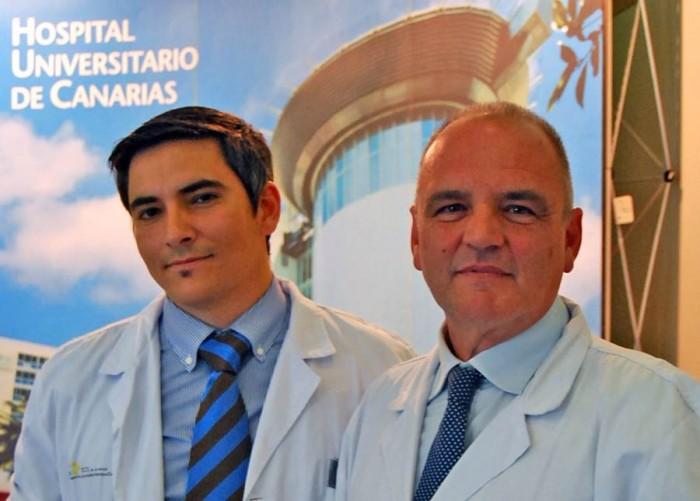 Luis Pérez Orribo y el profesor Víctor García Marín
