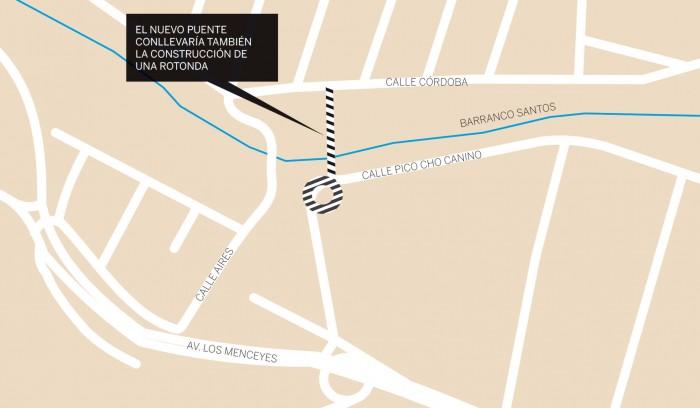 Infografía de la ubicación del puente. / DA