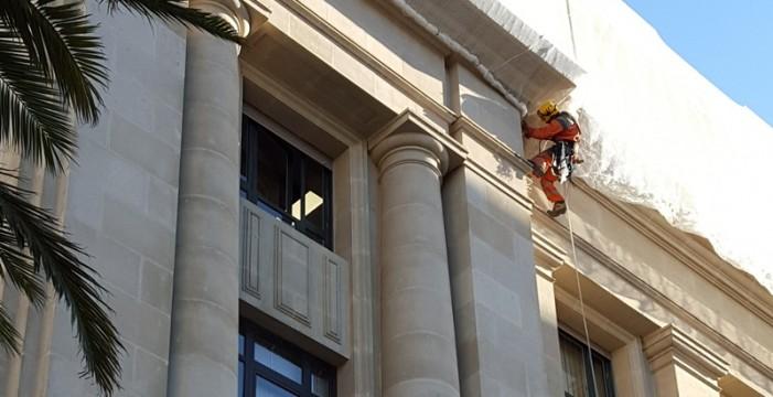 Estudian varios defectos detectados en la fachada del Palacio insular