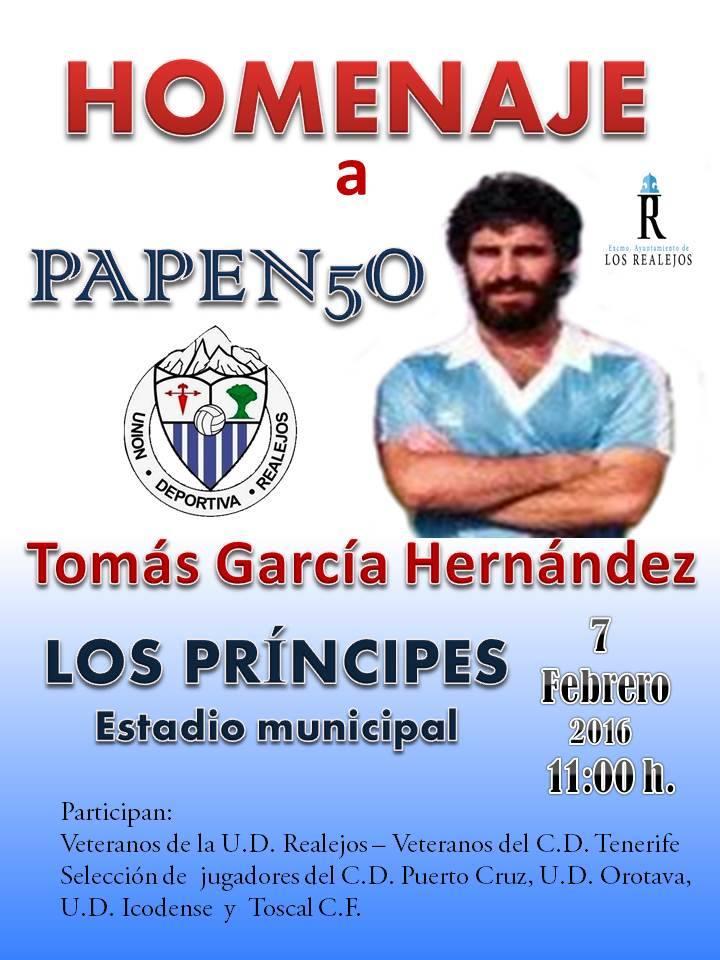El cartel del homenaje a Papenso