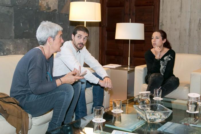 Los responsables de la Fundación Step by Step se entrevistaron con la vicepresidenta Patricia Hernández. / DA