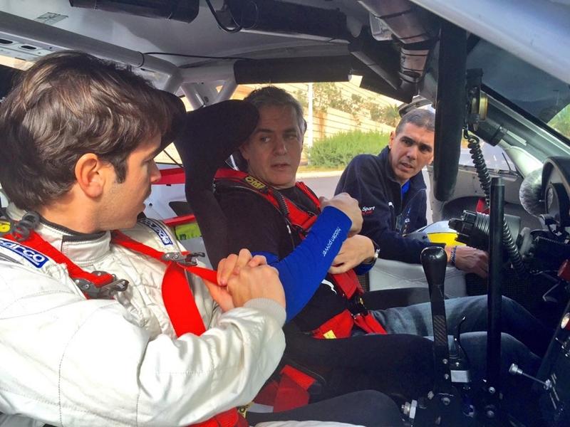 Sergio Vallejo y Enrique Cruz copi sport  prueba porsche
