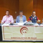 Rueda de prensa de Sindicalistas de Base, en Santa Cruz de Tenerife. / DAa