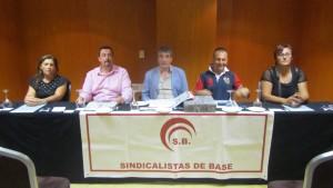 Rueda de prensa de Sindicalistas de Base, en Santa Cruz de Tenerife. / DA