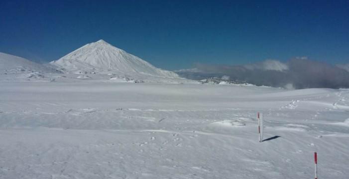 La nevada en el Teide, entre las diez mayores desde 1925