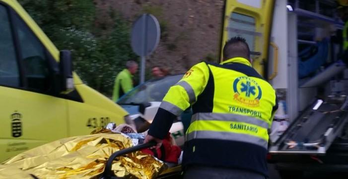 Tres personas heridas tras un accidente en Icod de los Vinos
