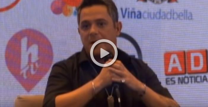 Alejandro Sanz llega a Viña y dice no a la violencia de género