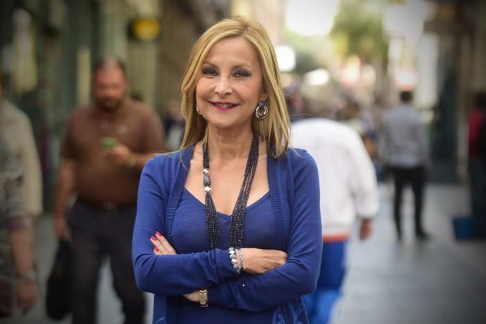 Australia Navarro, portavoz del PP en el Parlamento canario. / SERGI MÉNDEZ