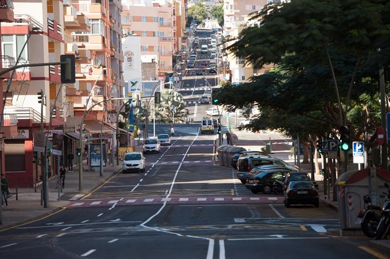 La mejora del drenaje y los pluviales de la avenida de Venezuela fue obra del Cabildo y el Ayuntamiento. / F. P.