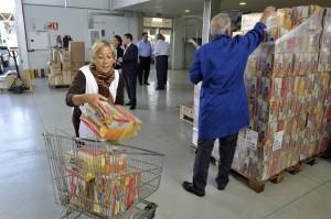 Imagen de archivo del banco de alimentos. / DA