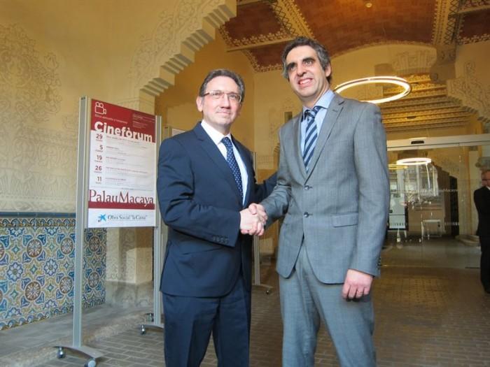 Jaume Giró (Fundación Bancaria La Caixa) y Manel Esteller (Idibell). / EUROPA PRESS